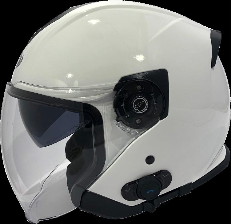 Viper RSV10 BL 3.0 Bluetooth Open Face Motorcycle Motorbike Helmet White